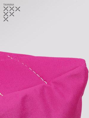 pufa kostka różowa kodura zoom