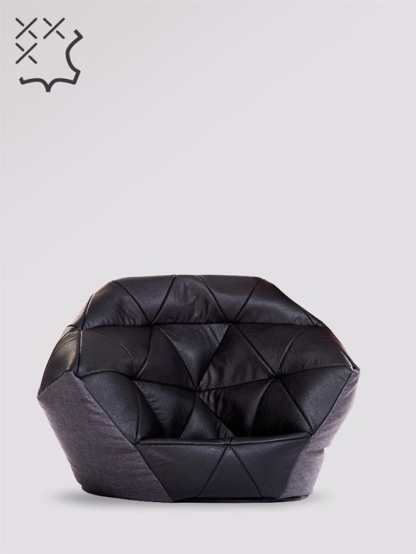 fotel avatar czarno szary ekoskóra kodura