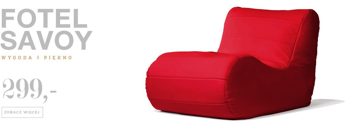 fotel savoy czerwony ekoskóra