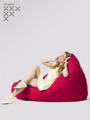 pufa egg czerwona z niebieskim zamkiem kodura do siedzenia