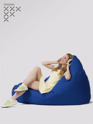 pufa egg niebieska z czerwonym zamkiem kodura do siedzenia