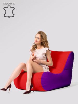 fotel savowy fioletowo czerwony ekoskóra