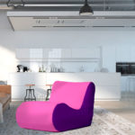 fotel savoy fioletowo różowy ekoskóra aranżacja