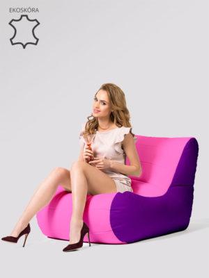 fotel savoy fioletowo różowy ekoskóra