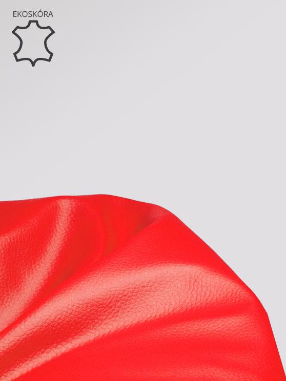 Pufa XL Ekoskora Czerwona