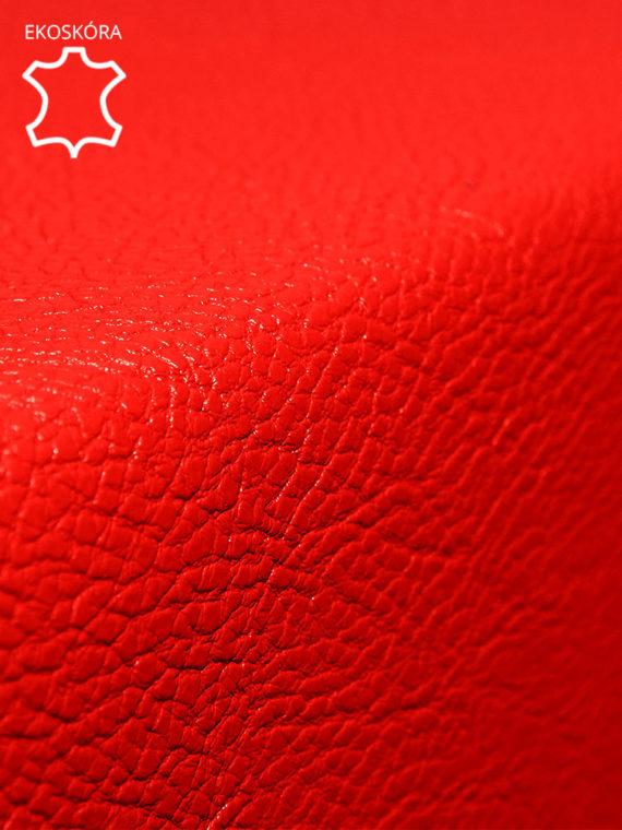 pufa 3d czerwona ekoskóra zoom