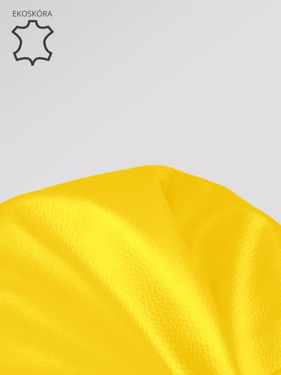 pufa xl żółta ekoskóra zoom
