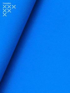 Pufa xl niebieska tkanina