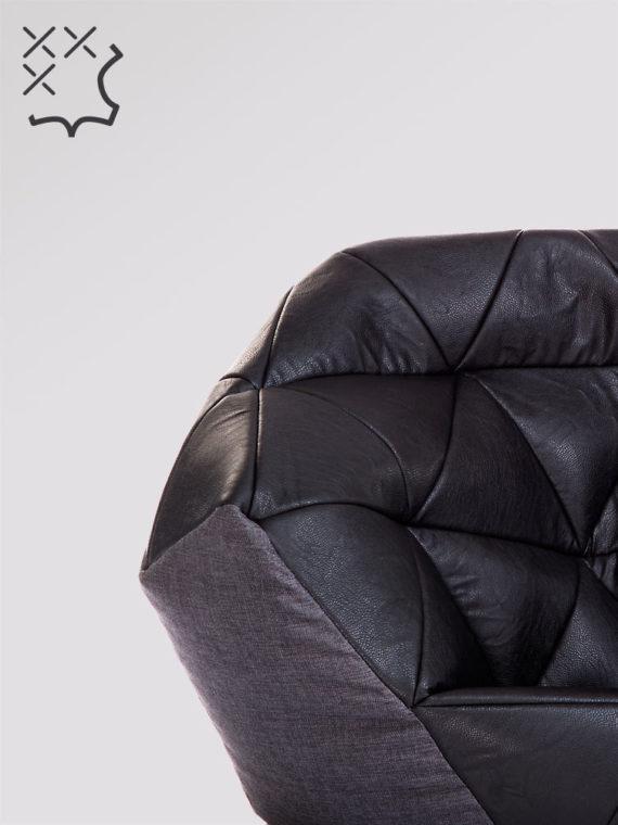 fotel avatar czarno szary ekoskóra kodura zoom