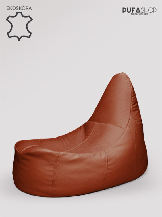 fotel deluxe brązowy ekoskóra