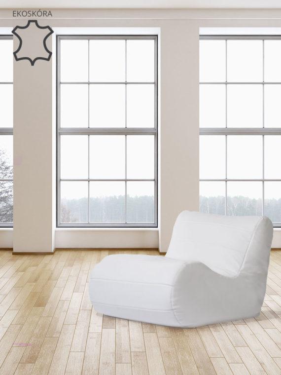 fotel savoy biały ekoskóra aranżacja