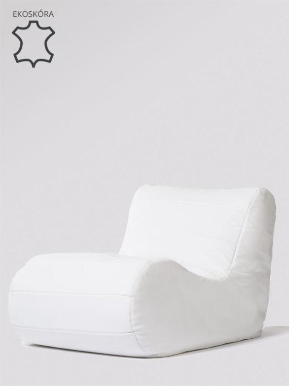 fotel savoy biały ekoskóra