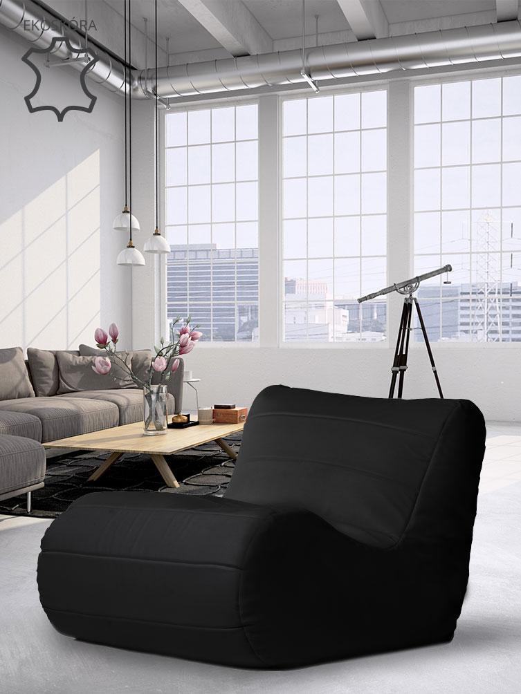 Fotel Savoy czarny skóra ekologiczna