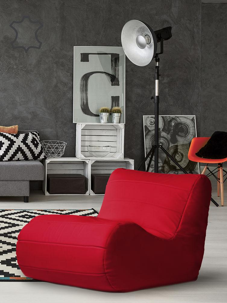 fotel savoy czerwony ekoskóra aranżacja