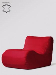 Fotel Savoy czerwony skóra ekologiczna