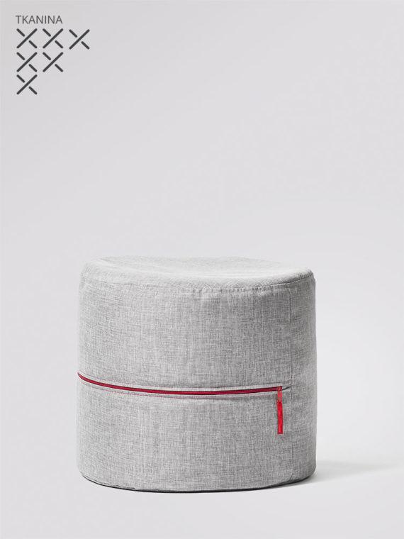 pufa roll g szara z czerwonym zamkiem kodura
