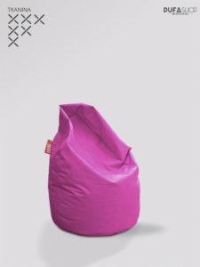 Pufa xl różowa tkanina