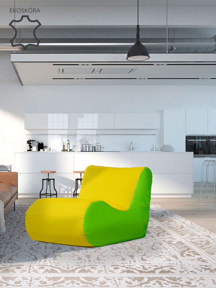Fotel Savoy limonkowo żółty skóra ekologiczna